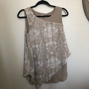 Asymmetrical nude Juicy Couture blouse Size M